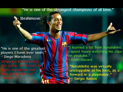 quotes on ronaldinho