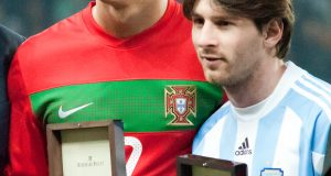Ronaldo and Messi together